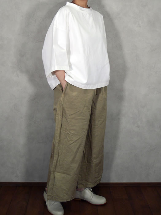 Harrow Town Stores, HTS, NHT1713CL, Cotton Linen Overdye Easy Pants