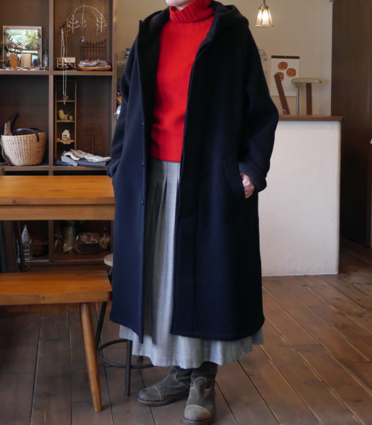 harrow town stores, NHT1752WD, Wool Hooded Coat