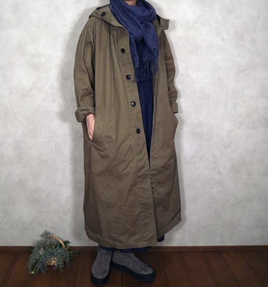 Harrow Town Stores, NHT2151DT, Cotton Twill Hooded Coat