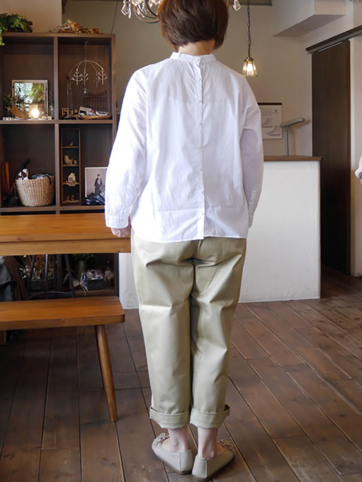 maison de soil, メゾンドソイル, NMDS17561, Back Opening Stand Collar Shirt