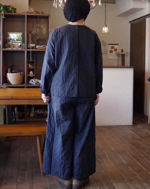 maison de soil, メゾンドソイル, NMDS18534C, Quilted Silk/Cotton Easy Pants