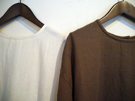 maison de soil, メゾンドソイル, NMDS18541, Boiled Wool Back Opening Crew-Neck Shirt