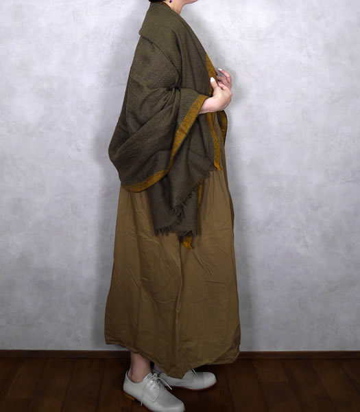 maison de soil, メゾンドソイル, NMDS19501, Wool Silk Big Herringbone Selvedge Stole