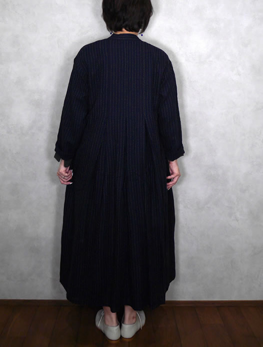 maison de soil, メゾンドソイル,NMDS19572, Inverted Pleats V-Neck Dress