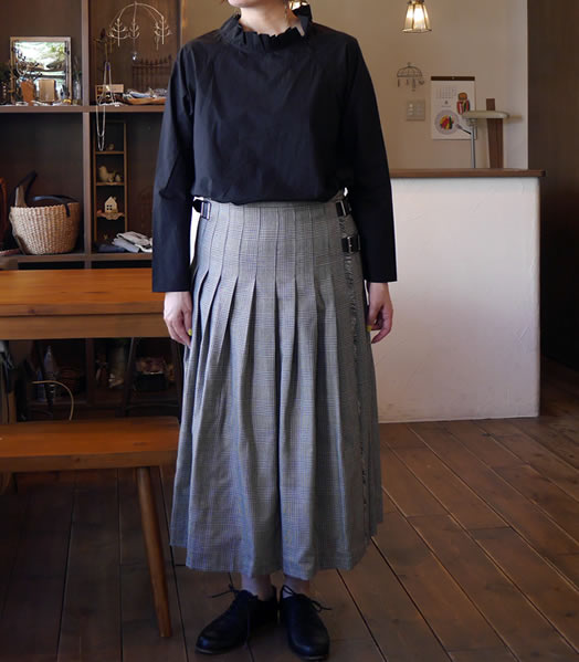 O'neil of Dublin, オニールオブダブリン, NOD0853, Pleats Wrap Skirt