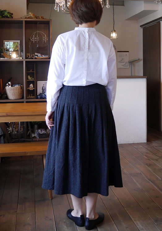 O'neil of Dublin, オニールオブダブリン, NOD1173, Low Waist Pleats Wrap Skirt with Pin