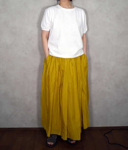 INSL19005, soil, ソイル,Cotton Gathered Skirt