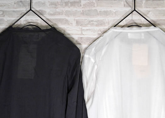soil, ソイル, NSL19534, Cotton Voile Lace Pintuck Shirt