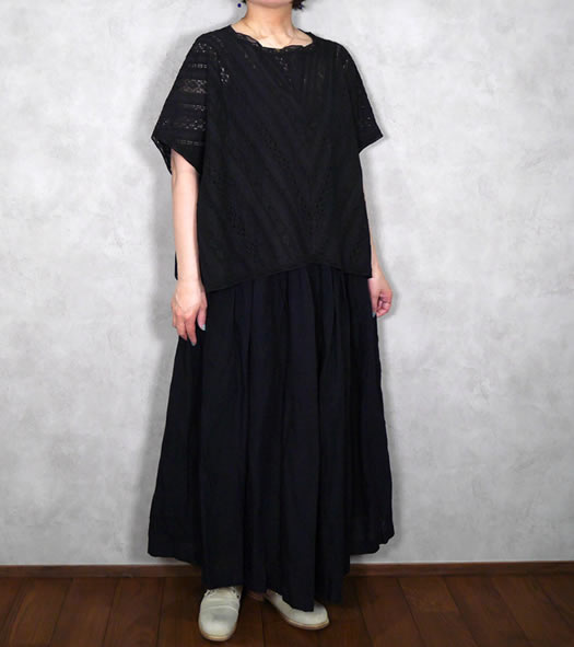 soil, ソイル, NSL20031, All Lace Boat Neck Poncho