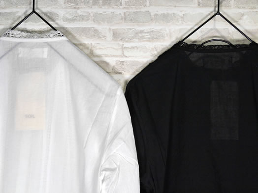 soil, ソイル, NSL20541, Cotton Voile Lace Pintuck Shirt