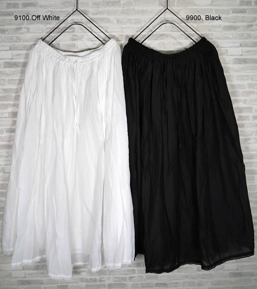 soil, ソイル, NSL20544, Cotton Voile Gathered Skirt