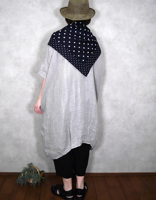 soil, ソイル, NSL21028, Cotton Voile Dot Print Triangle Stole