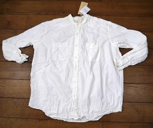 Vas-y Lentement, ヴァジーラントマン,  Banded Collar Long Sleeve Oversized Shirt, NVL1951W