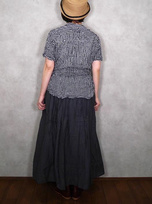 NVL2001HW, Vas-y Lentement, ヴァジーラントマン, Hand Woven Cotton Banded Collar Oversized Shirt