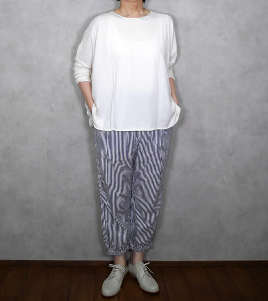 NVL2011HW, Vas-y Lentement, ヴァジーラントマン, Hand Woven Cotton Easy Pants