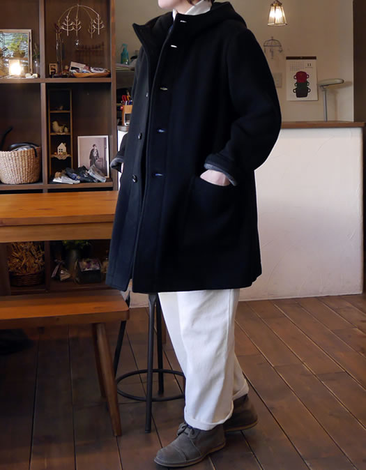 PNAM1652W, ARMEN, アーメン, Double Face Hooded Coat