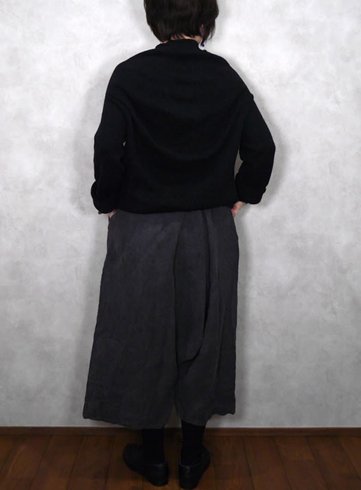 Veritecoeur, ヴェリテクール, VC-2078, Ecru Linen/ for Indigo Dyeing Dyed Black Pants