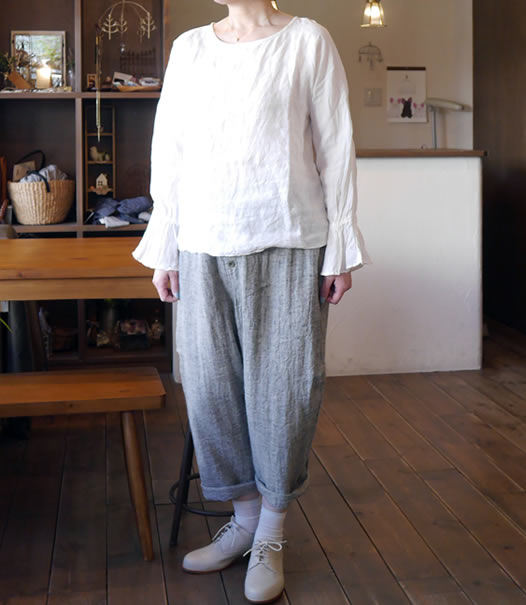 nachukara,ナチュカラ, nk-40227, Linen Candy Sleeve Pull-Over