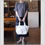 ARMEN アーメン/ PNAM1471  2WAY Double Pocket Small Tote Bag