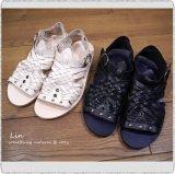 Punto Pigro プントピグロ/ NPP2001R Mesh & Ring Sandal