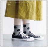*Homie ホーミー/ H-038 Cotton Linen Dot Socks