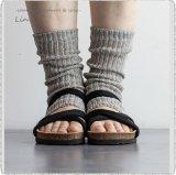 *Homie ホーミー/ H-057 Linen & Organic Cotton Rib Sandal Socks