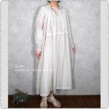 maison de soil メゾンドソイル/ INMDS21044 100's x 150's Khadi Neck Gathered Dress