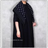 *soil ソイル/ NSL20027 Voile Dot Print Square Stole