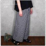 *soil ソイル/ INSL21216 Linen Check Wide Easy Pants