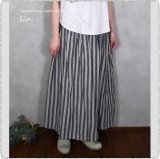 <img class='new_mark_img1' src='https://img.shop-pro.jp/img/new/icons11.gif' style='border:none;display:inline;margin:0px;padding:0px;width:auto;' />*ichi Antiquite's イチアンティークス/ 700320 Linen Azumadaki Gingham/ Stripe Skirt