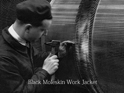Black Moleskin Work Jacket