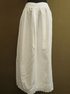 1900's white long skirt