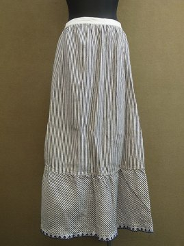 early 20th c. Dead stock striped skirt