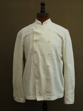 cir. mid 20th c. double breasted white work jacket