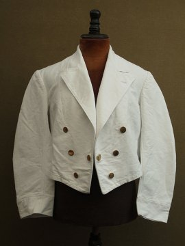 cir.1910-1940's white cotton short jacket
