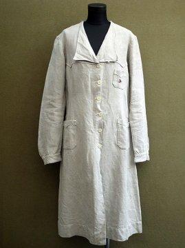 1920's-1930's beige linen coat