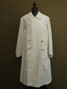 cir.1920-1940's double breasted white coat