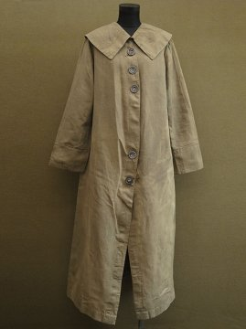 cir. 1910-1920's khaki linen driving coat