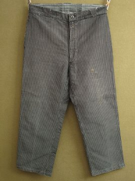 cir.1940's striped moleskin work trousers