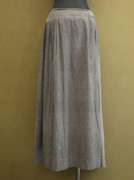early 20th c. gray checked long skirt