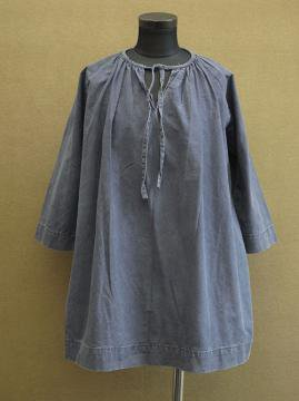 early - mid. 20th c. bluish black cotton smock