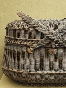late 19th - early 20th c. black basket bag 2