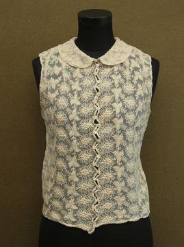 early 20th c. cream lace gilet