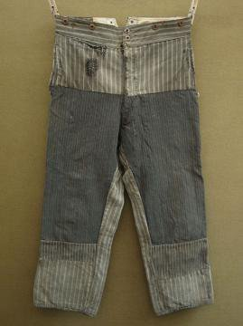 cir.1940's patched stripe work trousers
