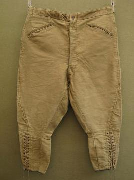 cir.1930-1940's brown moleskin jodhpurs