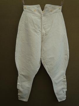 early 20th c. linen × cotton jodhpurs