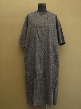 cir. 1930's printed cotton dress S/SL