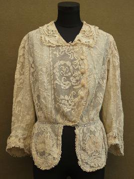 1910's cream lace blouse