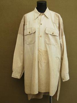 cir.1930-1940's beige cotton shirt