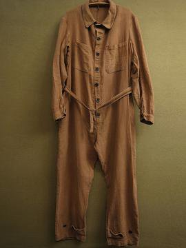 cir.1940's brown twill coverall